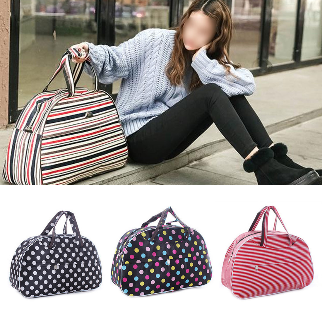 Women Travel Bags Handbags New Hot Fashion Portable Luggage Bag Floral Print Duffel Bags Waterproof Weekend Duffle Bag