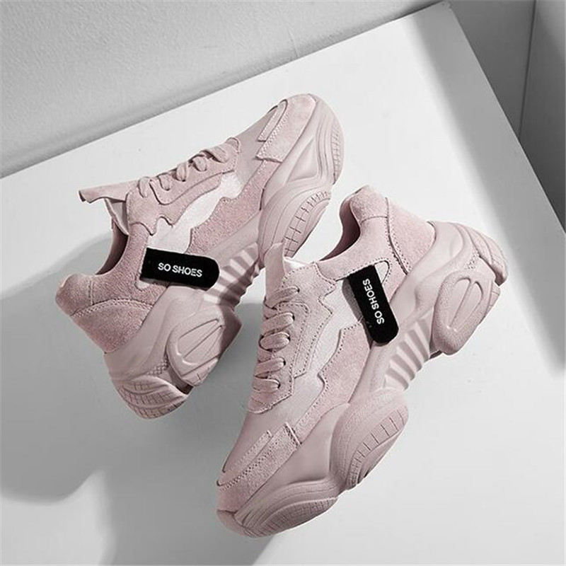 LZJ 2019 New Women Shoes Spring New Women's Shoes Ulzzang Platform Sports Shoes Female Wisdom Shoes Women Snekaers