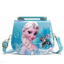 Disney princesa crianças saco do mensageiro menina congelado elsa bolsa de ombro sofia bolsa criança moda sacola de compras