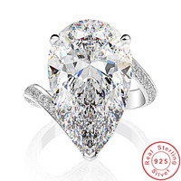 Luxury Water Drop 18ct Moissanite Diamond Ring 100% Original 925 sterling silver Engagement Wedding band Rings for Women Jewelry