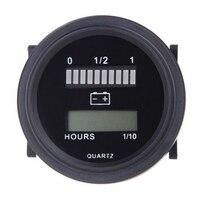 12v/24v/36v/48v/72v led indicador de carga de status de bateria digital com medidor de hora preto