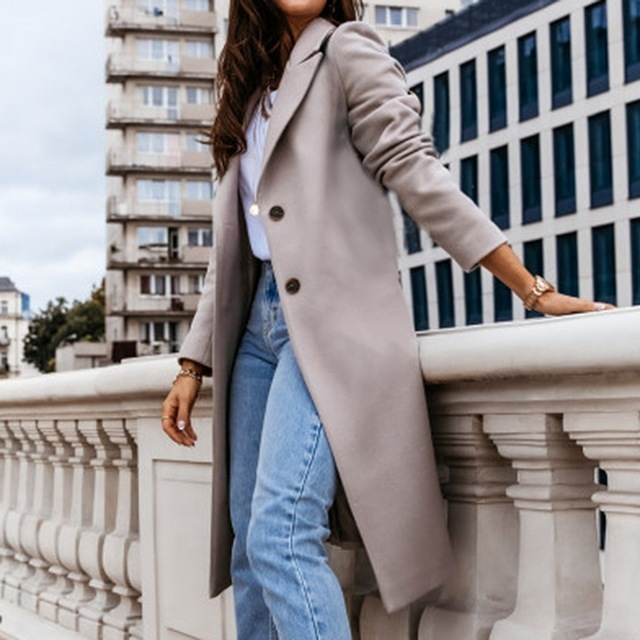 Down Collar Trench Coat 4