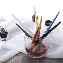 Wood Craft Script Antique Dip Pen Oblique Calligraphy Pen Holder Ink Calligraphy Tools new deluxe copperplate script antique oblique dip pen holder handmade calligraphy gift dip pen