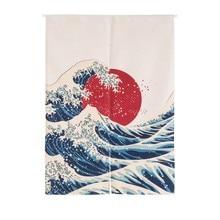 Японский Норен хлопковый текстиль с принтом Декор дверная занавеска настенный гобелен экраны и декоративные перегородки украшения ТМ