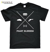 2019 Summer Fashion Hot Stooble Men's Peaky Blinders - Cross T-Shirt Tee shirt stooble men s new zealand rugby haka t shirt