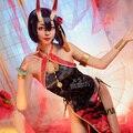Game FGO Shuten douji Cosplay Costume Women Sexy Cheongsam Dress Halloween Carnival Uniforms Custom Made