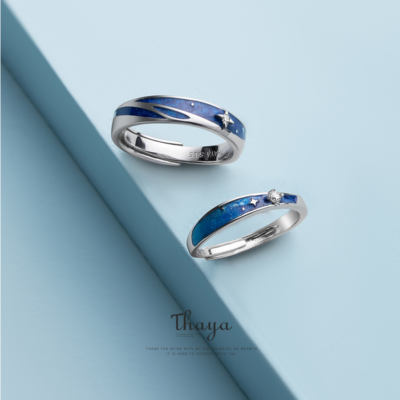 Thaya Original Design s925 Sterling Silver Nebula Rings Couple Fashion Rings For Women Elegant Fine Jewelry(China)
