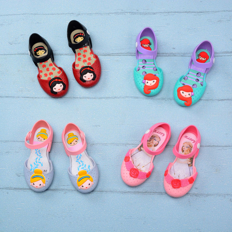 2020 Mini Melissa Jelly Sandals Birthday Party  Shoes Bow Sandals Girls Breathable Princess Sandals Comfortable Melissa Shoes
