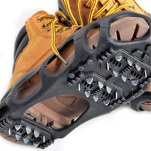 40 #24 zęby stalowe Ice Gripper Spike buty antypoślizgowe Crampon wspinaczka śnieg kolce raki knagi uchwyty pokrowiec na buty Ice Gripper tanie tanio ISHOWTIENDA CN (pochodzenie)
