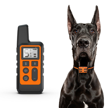 500m Electric Dog Training Collar Pet Remote Control with LCD Display Waterproof Rechargeable collars for Shock Vibration Sound rechargeable pet remote control electric dog training collar with lcd display anti barking waterproof collars