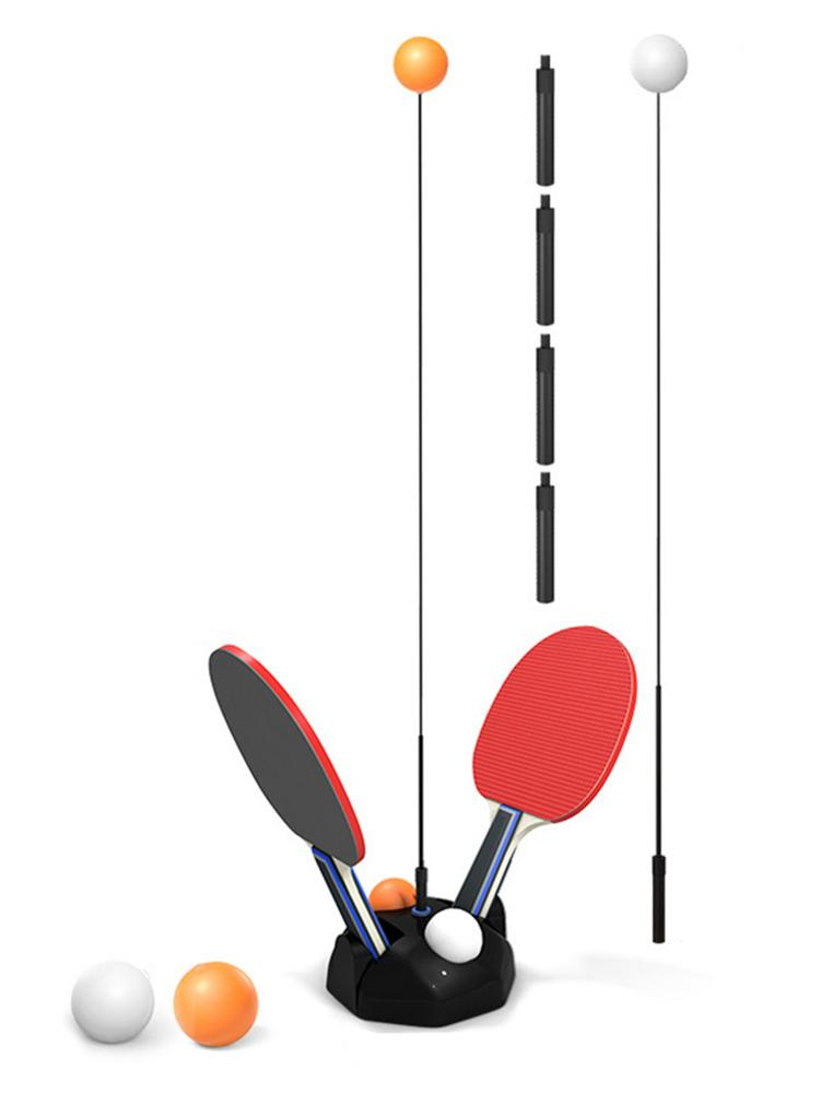 Table Tennis Trainer Movable Elastic Soft Shaft Vision Training Adjustable Height Leisure Decompression Sports Ping Pong Balls
