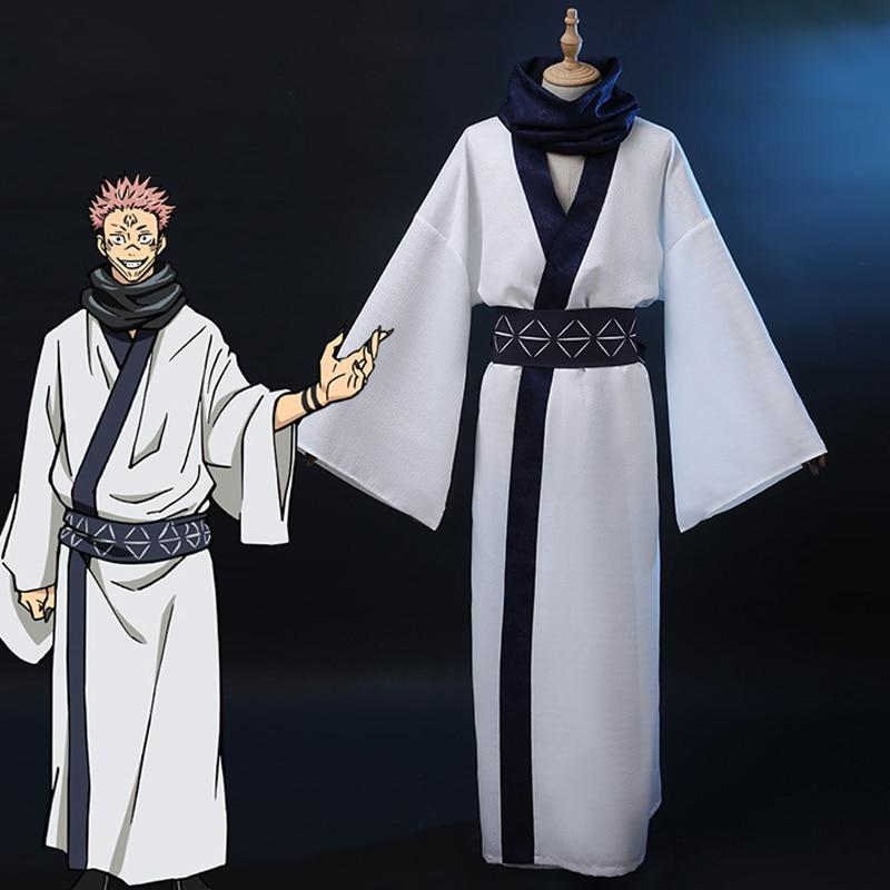 Anime Jujutsu Kaisen Ryomen Sukuna Cosplay Costume Japanese Kimono Fancy Suit Outfits Halloween Carnival Uniforms Custom Made
