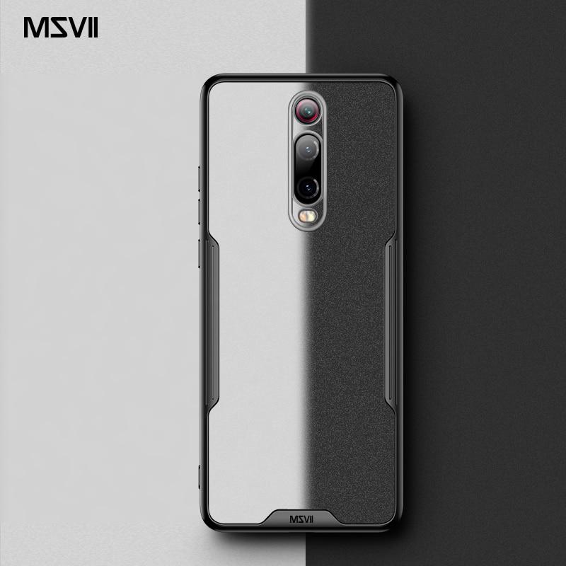 Msvii For Xiaomi Mi 9T Case Silicone Capa For Redmi K20 Pro Case Transparent K20 Funda For Mi9T Cover Mi 9T Pro Coque(China)