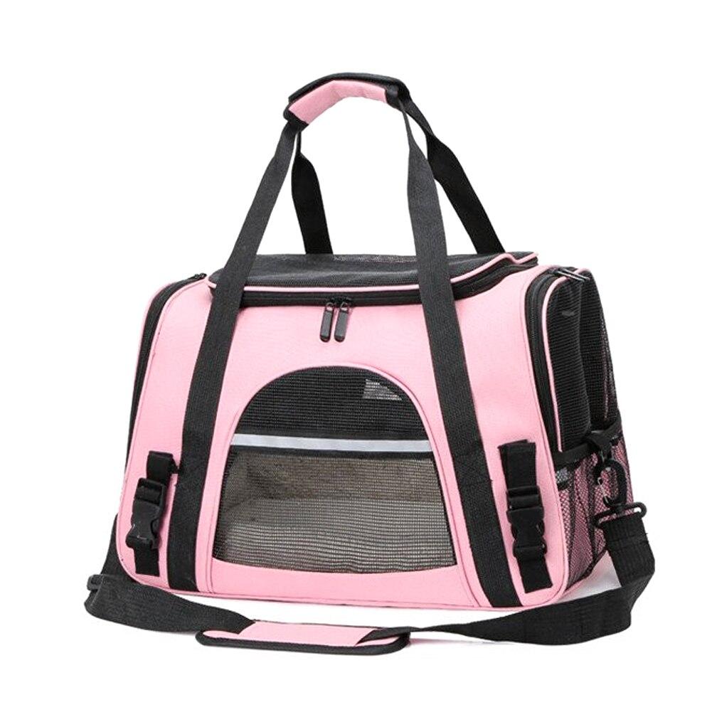 Sacos de transporte do portador do gato saco do animal de estimação com travamento zíperes de segurança portátil respirável dobrável mochila do gato para o cão de estimação saco do gato