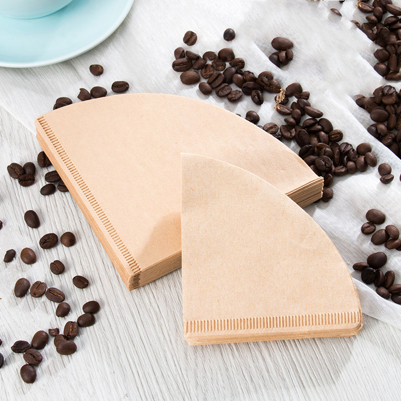 Coffee Filter Paper Unbleached 100% Natural Coffee Filter Paper V60 Style Coffee Maker Fits 1-2 Cups And 1-4 Cups