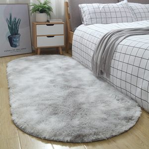 Thick oval gradient carpet Nordic ins style simple rug modern home bedside bedroom mat children crawling rug La alfombra