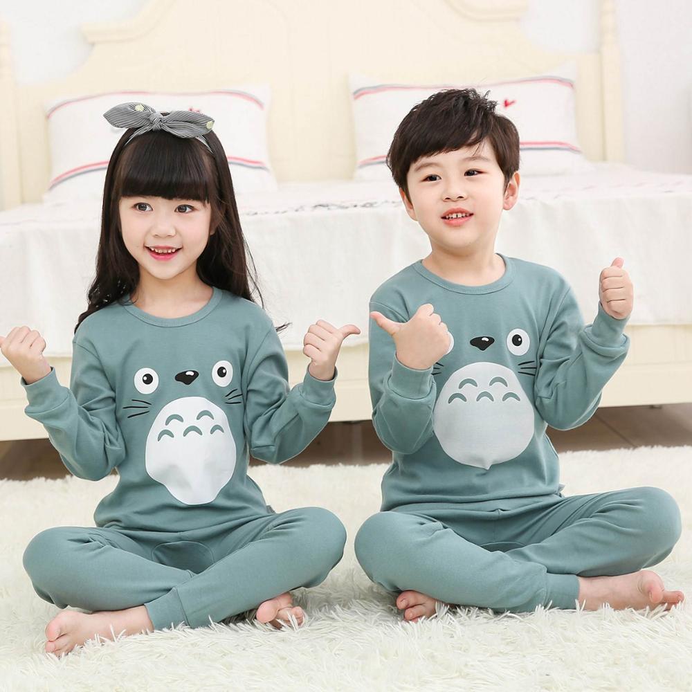 Children Pajamas Boys Totoro Cotton Clothes Pants Set Cartoon Sleepwear Kids Pajamas For Girls Toddler Baby Outfits Child Pyjama 1