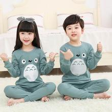 Children Pajamas Boys Totoro Cotton Clothes Pants Set Cartoon Sleepwear Kids Pajamas