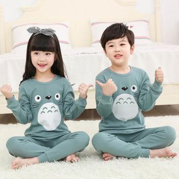 Children Pajamas Boys Totoro Cotton Clothes Pants Set Cartoon Sleepwear Kids For Girls Toddler Baby Outfits Child Pyjama - discount item  36% OFF Children's Clothing