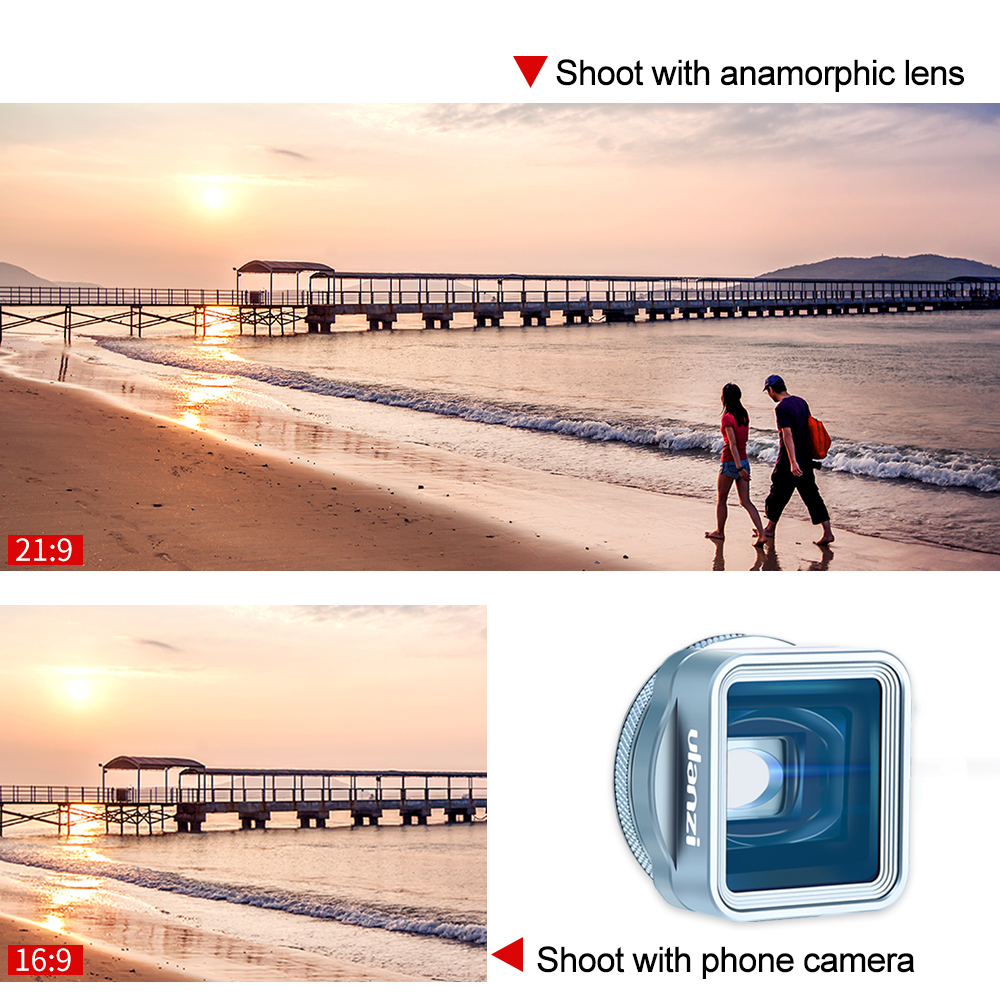 Image 4 - Ulanzi 1.33XT Anamorphic Phone Lens Bag Filter Kit Filmmaking 