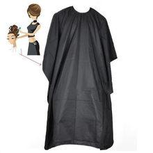 Pano preto salão de cabelo profissional xale de náilon com fecho de pressão cabeleireiro cabo vestido pano de cabelo à prova dwaterproof água na venda