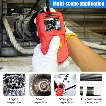 3/5M Inskam 2.4 Inch Industrial Endoscop Camara 0.3MP HD Video Waterproof Microscope Camara for Auto Car Repair Tool Handheld