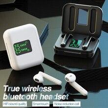 TWS 블루투스 무선 헤드폰 터치 컨트롤 LED 디스플레이 블루투스 5.0 게임용 헤드셋 스포츠 방수 이어폰 이어 버드