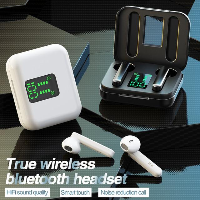 Tws Bluetooth Draadloze Hoofdtelefoon Touch Control Led Display Bluetooth 5.0 Gaming Headset Sport Waterdichte Oordopjes Oordopjes