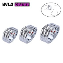New Sex Products Metal Snake Sexy Dick Ring On Penis Delay Ejaculation Adult Sex Toys for Men Male Penis bondage lock ring BDSM(China)