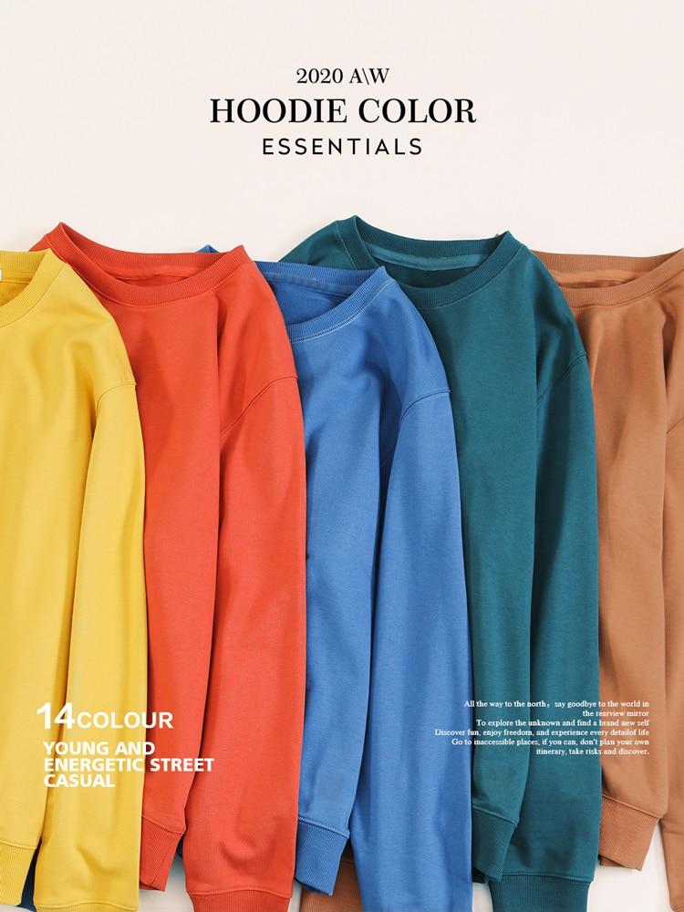 SIMWOOD Basic Pullover Sweatshirt Embroidery Logo New Hoodies Minimalist Men Plus-Size