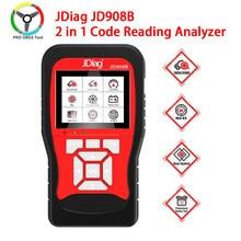 Original jdiag jd908b obd2 ferramenta de varredura 12v profissional 2 em 1 analisador leitura código jdiag jd908b ferramenta scanner