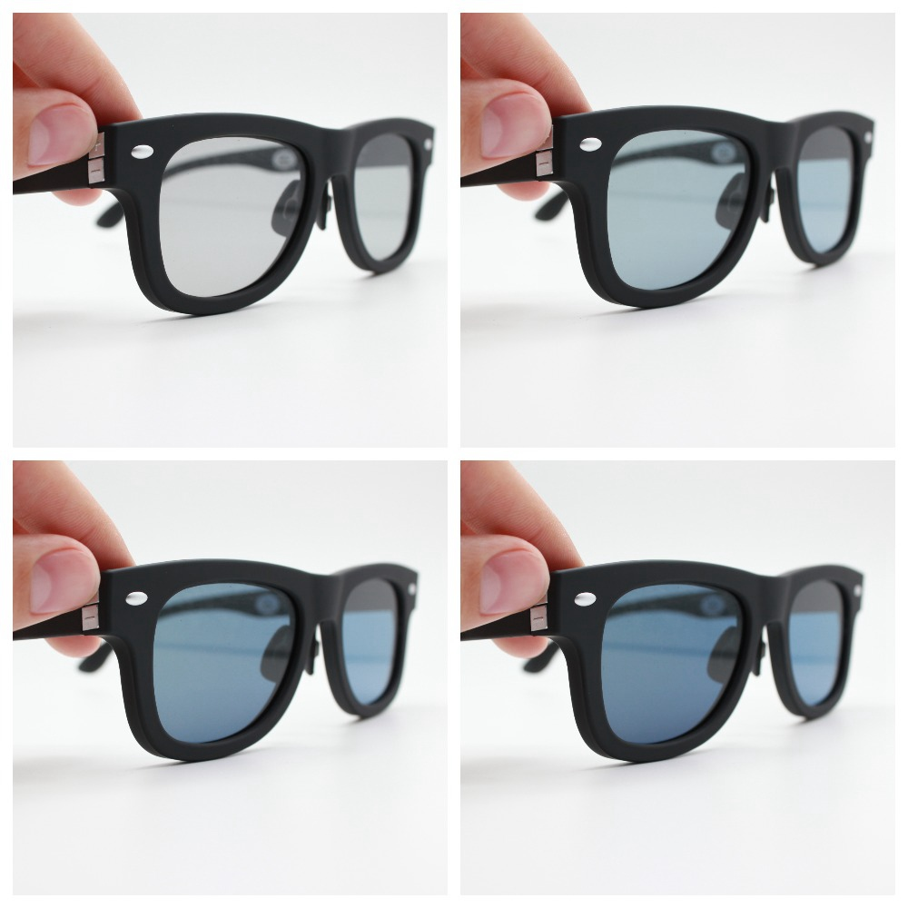 2020 Original Design Sunglasses LCD Polarized Lenses Electronic Transmittance Mannually Adjustable Lenses Sun glasses Vintage 1
