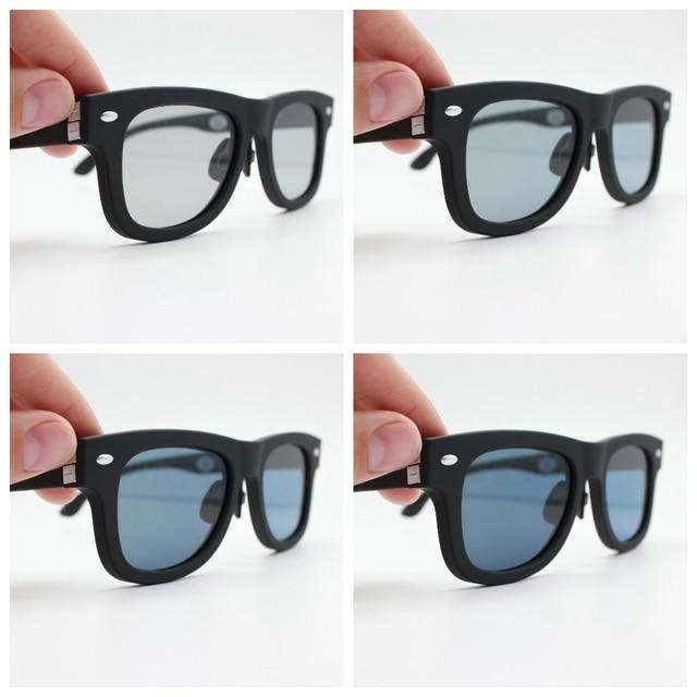2020 Original Design Dimmen Sonnenbrille LCD Polarisierte Linsen Elektronische Durchlässigkeit Mannually Einstellbare Sonne gläser Vintage