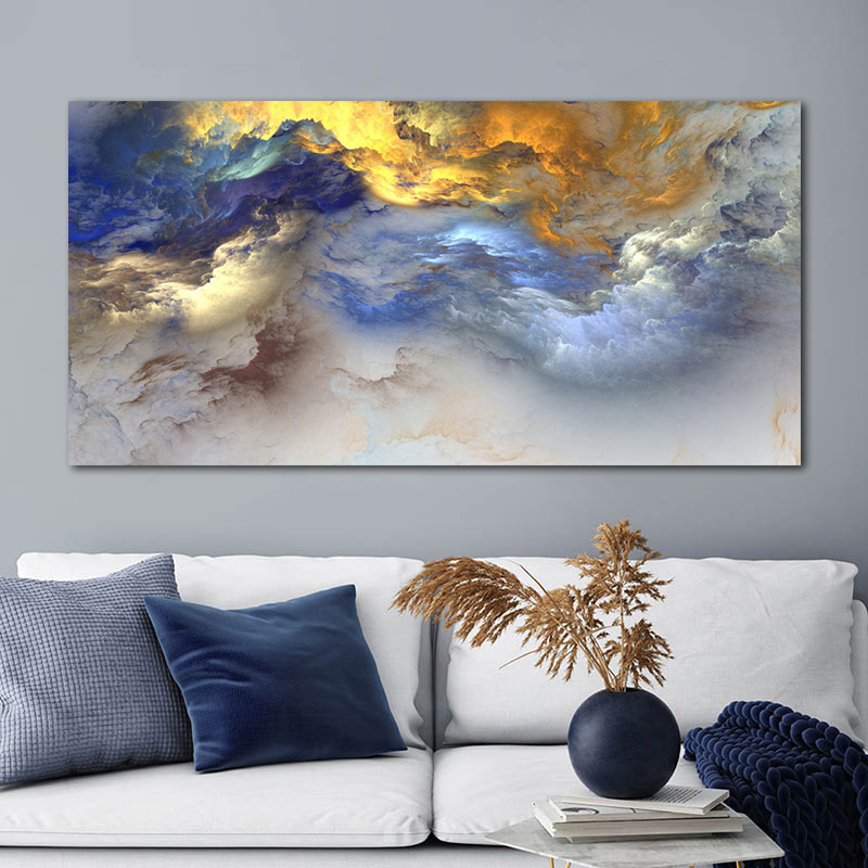Abstract background Cloud quality Painting Canvas Print wall art home decor