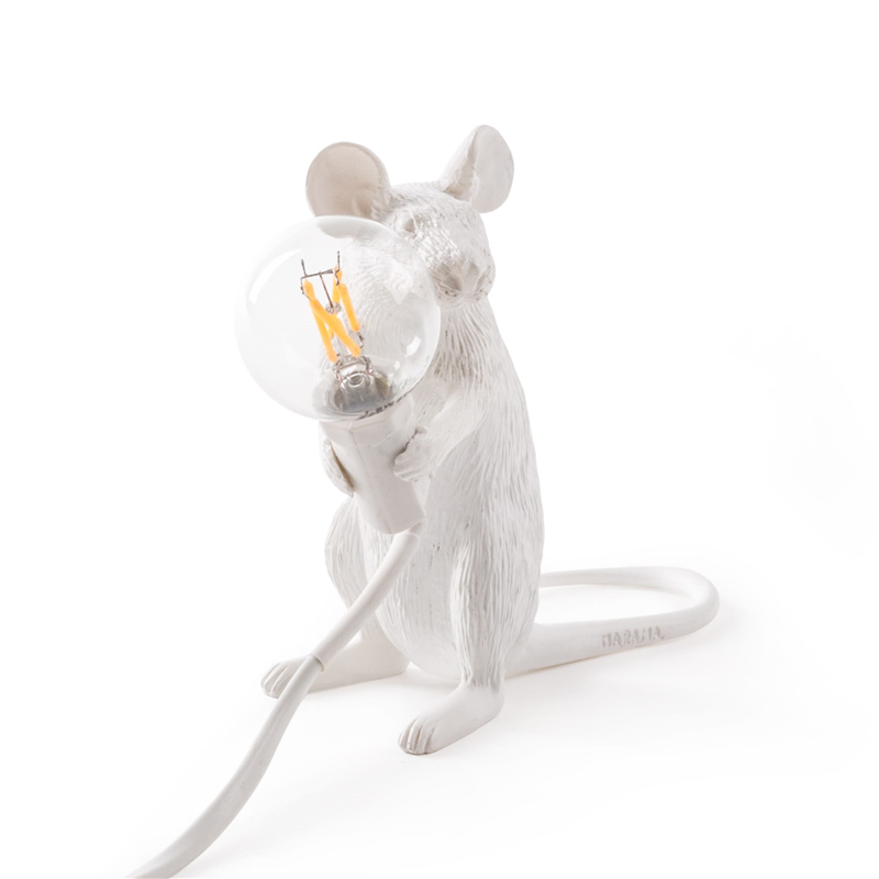Nordic Mini Rat Night Lights Modern Animal Industrial Decor Night Lamp Living Room Children's Bedroom Gift Lighting Luminaires