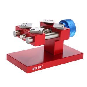 Image 5 - Professionele Horloge Bezel Opener Removal Tools Werkbank Case Opener Tool Horloge Onderdelen Repair Tool Voor Horlogemaker Rood/Zilver