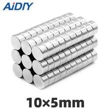 AI DIY 5/20/100 pcs 10x5mm n35 super strong magnets permanent Rare Earth Magnetic magnet Disc Imanes 10 * 5mm