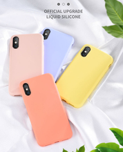 Solid Cute Soft Silicone Protection Case For iPhone7 8 Plus iPhone XR X XS Max Plus цена и фото