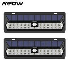 Mpow lámpara Solar de pared con Sensor de movimiento, Luz LED Solar resistente al agua, con 3 sensores ajustables, Para Exterior, 2 uds.