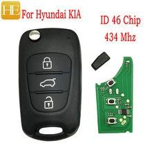 HE Xiang Car Remote Control Key For Hyundai I20 I30 IX35 I35 Accent Solaris Elantra Santa For Kia Cerato Ceed  433MHZ Smart Key