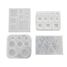 All Size Square Round Triangle DIY Geometric Resin Silicone Mold Jewelry Tools