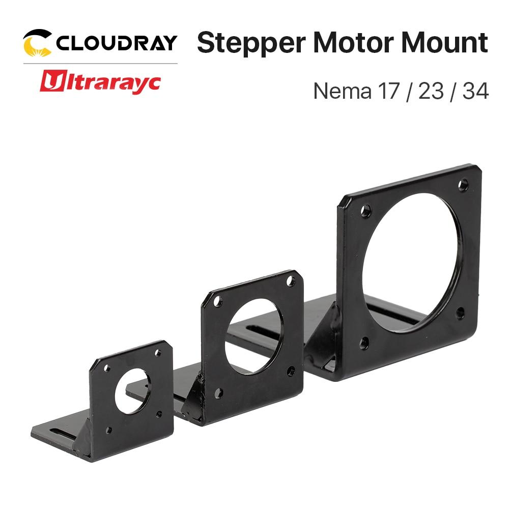 Ultrarayc Stepper Motor Mount Base Nema 17 23 34 Motor Aluminum Fixed Seat Fastener Mounting Bracket Support For DIY Accessories