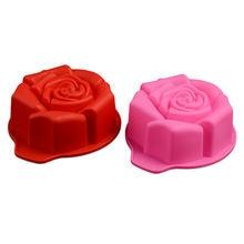 Силиконовая 3d форма для торта в виде розы инструменты выпечки
