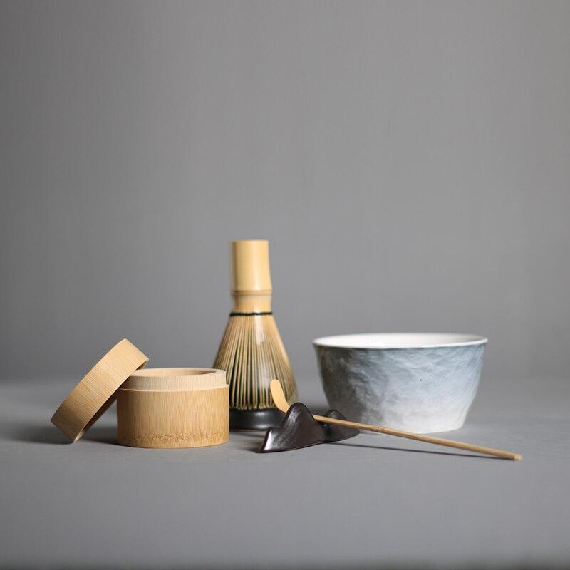 4 шт./компл. традиционный Набор для маття натурального бамбука веничек для чая «маття» ceremic чаша для маття венчик держатели японский чайные с...
