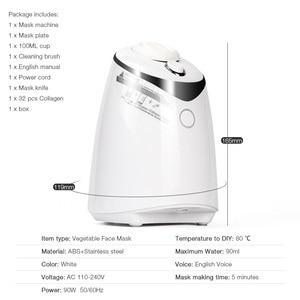 Image 5 - Машинка для ухода за лицом, автоматическое устройство для самостоятельного приготовления маски с натуральным овощным коллагеном, для домашнего использования, для красоты, спа салона, Eng Voice