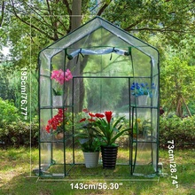 Garden PVC DIY Walk-in Greenhouse Plant Cover Home Outdoor F