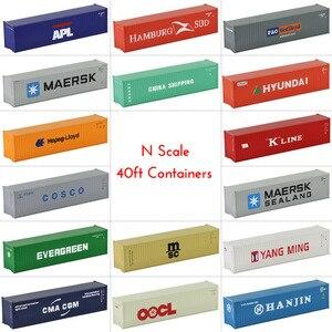 Image 2 - 10 шт 40 футовые контейнеры 1:150 контейнер для перевозки с магнитом грузовой автомобиль N Масштаб модели поезда Лот C15008 железнодорожное моделирование