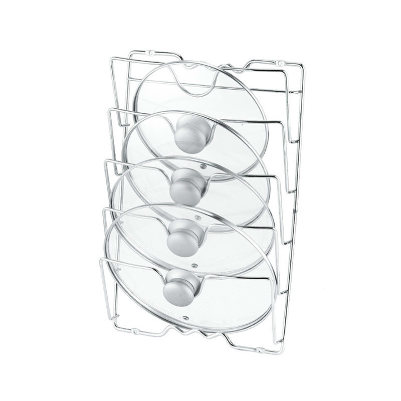 Kitchen Wall Hanging Pan Lid Frame Five Layer Lid Holder Pot Covers Storage Rack Tools Drying Kitchen Accessories Organizer
