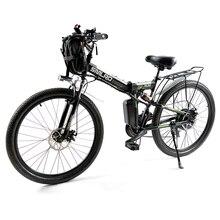 Складной электрический велосипед мощный электрический велосипед передний мешок 48V 12AH 500W горный велосипед для е-байка 21 Скорость России