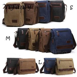 Image 2 - Different size Canvas Messenger Bag School Crossbody Bag Shoulder Bags